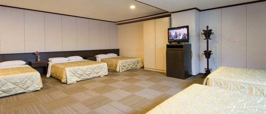 페밀리형 10인룸(5개의 더블침대)