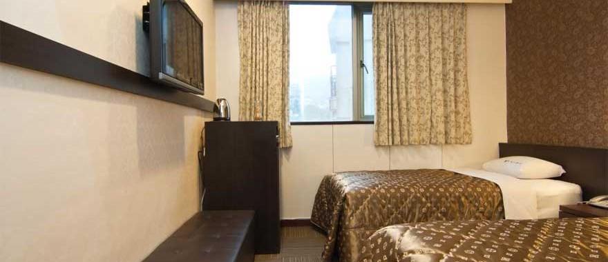 핫스프링 트윈룸(드윈 침대)